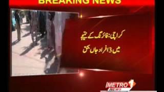 Karachi, Taimuria firing at the Salt Bank, killing three person