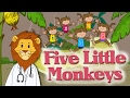 Five Little Monkeys Jumping On The Bed | Cute and Funny | Sing Swing n Rhyme