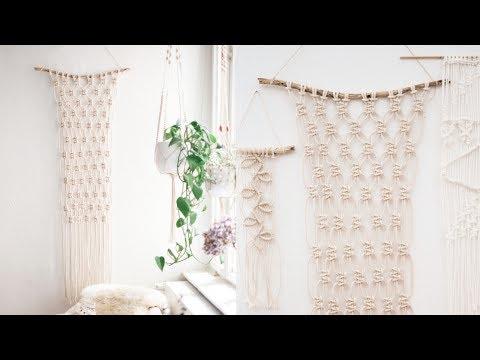 DIY TUTORIAL MAKRAMEE WANDBEHANG für Anfänger! - Wall Hanging / Macrame Tutorial