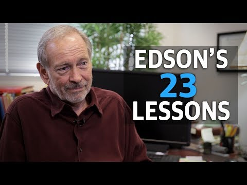 Eric Edson's Top 23 Screenwriting Lessons