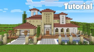 Minecraft: How to Build an Italian House Tutorial (Easy)