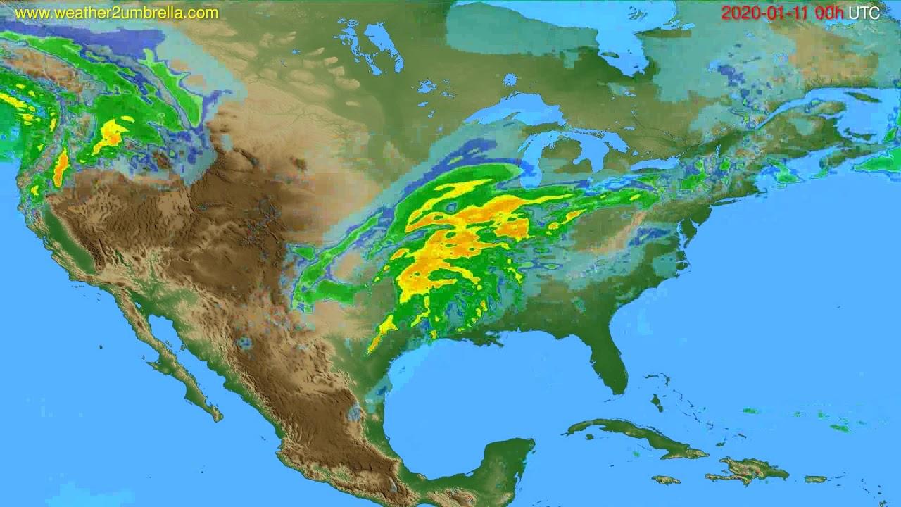 Radar forecast USA & Canada // modelrun: 12h UTC 2020-01-10