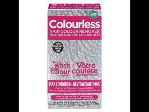 Colourless Hair Color Remover