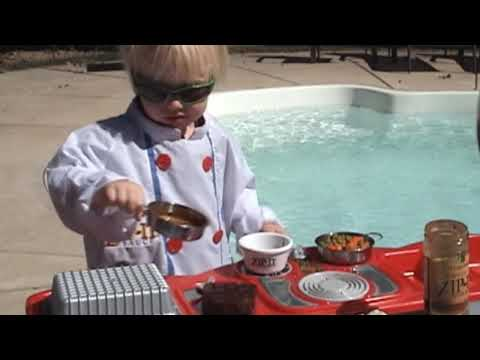 Zip-It Steak Sauce - 2 Year Old Chef Lukey Shows You How To Cook A Zip-It Gourmet Meal!