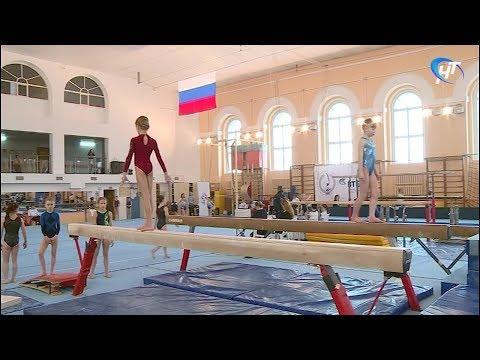 В Великом Новгороде проходит юниорское первенство округа по спортивной гимнастике
