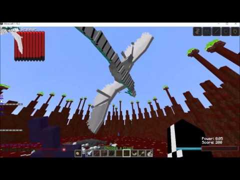Minecraft Mob Battles: Ice Dragon Versus Wither
