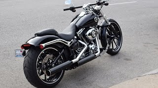 2. 2015 Harley Davidson Breakout - Start up and first ride.