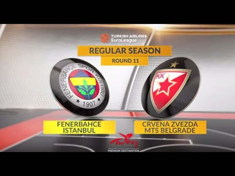 EuroLeague Highlights RS Round 11: Fenerbahce Istanbul 87-72 Crvena Zvezda mts Belgrade