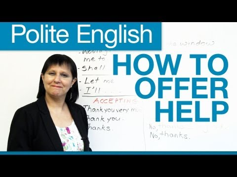 Polite English: How to offer help