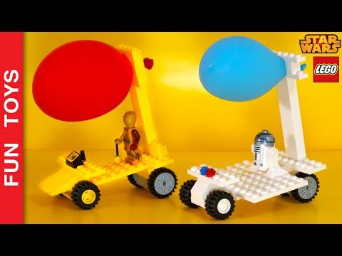 Make a balloon powered Lego Car! Who will win the Star Wars race? C-3PO or R2-D2? Kids activities 🎈:  In this video we show how to build a Lego car  with a special motor, a party baloon.You just need to pay attention to the tips that will give you and build a model as you see fit. You only need common bricks, wheels and wheel- fitting parts.Create competitions with your friends and family to see who builds the fastest cart and will go further!Buy Star Wars Lego here: http://bit.ly/Star-Wars-LegoComment down there which car you like most, C-3PO and R2-D2? How will be the cart you will build?!Do not forget to LIKE and SHARE the video.And please Subscribe: http://www.youtube.com/funtoysbrinquedosvideos/videos?sub_confirmation=1✦PORTUGUÊS:Neste vídeo iremos ensinar a fazer um carrinho de lego movido a balão de festa. Você só precisa prestar atenção nas dicas que iremos dar e poderá construir um modelo da forma que achar melhor. Você só precisará de peças comuns, rodinhas e as peças de encaixe de rodas.Crie competições com seus amigos e família para ver quem constroi o carrinho mais rápido e que irá mais longe!Comente aí embaixo qual carro você mais gostou, do C-3PO ou do R2-D2? Como será o carrinho que você irá construir?!Não se esqueça de dar um JOINHA no vídeo, MOSTRAR este vídeo para seus amigos e parentes e de se INSCREVER no canal clicando neste link: http://www.youtube.com/funtoysbrinquedosvideos/videos?sub_confirmation=1Compre Star Wars Lego aqui: http://bit.ly/Star-Wars-LegoVeja outros vídeos legais- Carrinho de Lego movido a Elástico - Faça você mesmohttp://www.ascendents.net/?v=HP6tRViv2yQ&list=PL2edokDcUWHLRrau5wZfxiP5gZjU7EHhA- Labirinto para bolinha de gude feito com Lego - Faça você mesmohttp://www.ascendents.net/?v=JsdElX_MarY&list=PL2edokDcUWHLRrau5wZfxiP5gZjU7EHhA- Tinta com Volume: Angry Birds, Kung Fu Panda e My Little Ponyhttp://www.ascendents.net/?v=Y96CJQrUuUY&list=PL2edokDcUWHLRrau5wZfxiP5gZjU7EHhA- Capitão América, Homem de Ferro, Batman e Superm