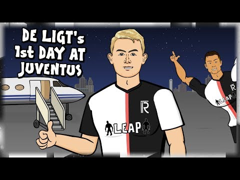 ⚫⚪DE LIGT's 1st DAY AT JUVENTUS!⚪⚫ (Transfer parody feat. Ronaldo)