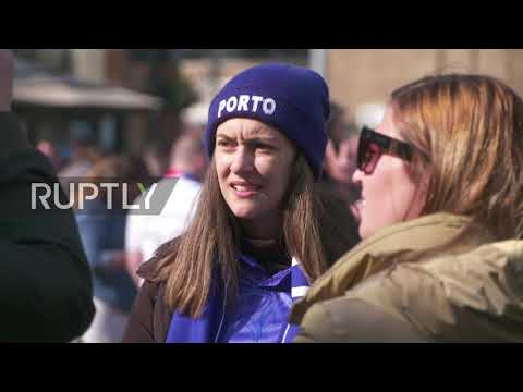 UK: Porto Fans March On Anfield Ahead Of Liverpool Quarter-final Clash