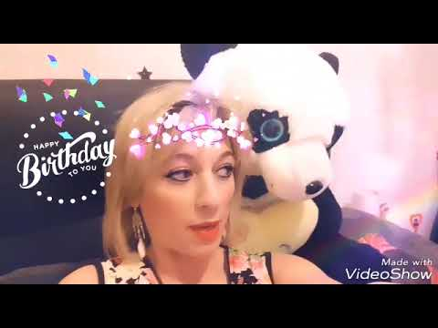 Birthday greetings from Rosy - Voeux d'anniversaire de Rosy