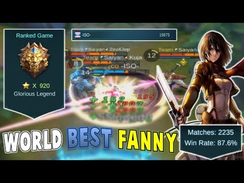 Mobile Legends : WORLD BEST FANNY PLAYER ! Gameplay + Commentary /w -ISO-