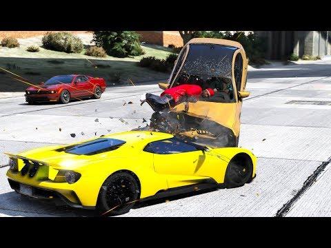 GTA 5 Real Car Mods Crashes/Fails (видео)