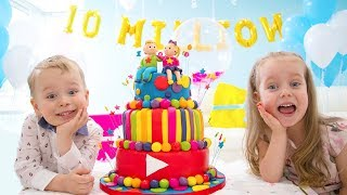 Video 10 Million Subscribers! Party and Surprise Toys for Gaby and Alex MP3, 3GP, MP4, WEBM, AVI, FLV April 2019
