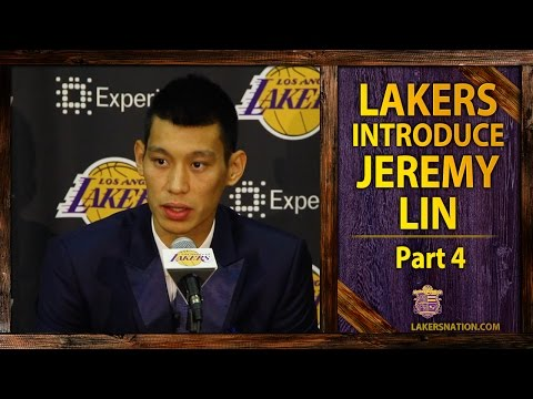 lakers - At his Lakers introductory press conference, Jeremy Lin says he's not trying to recreate Linsanity. Join the Largest Lakers Fan Site in the World http://LakersNation.com | Follow http://twitter.c...