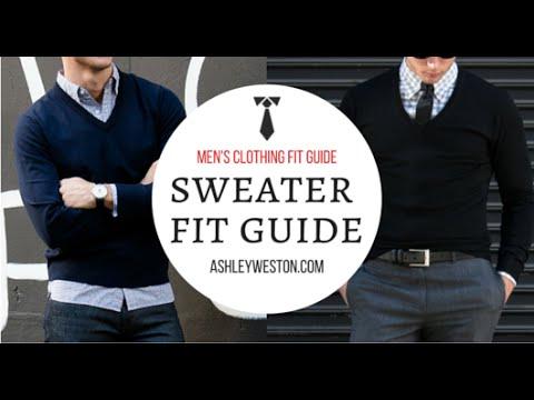 How Should A Sweater Fit? - Men's Clothing Fit Guide - Crew Neck Vneck V-Neck Cardigan