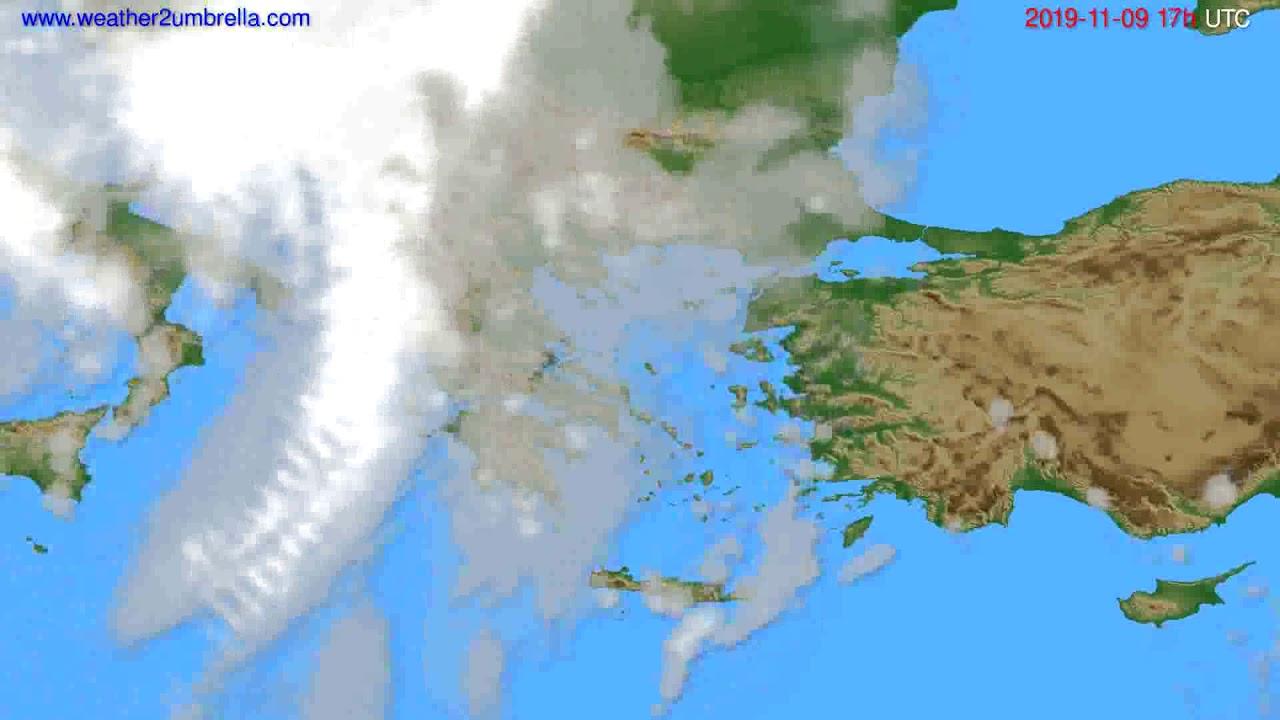 Cloud forecast Greece // modelrun: 12h UTC 2019-11-07