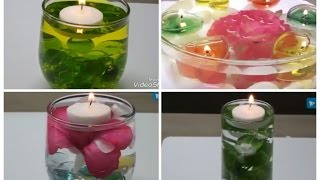 Best 4 ☆ Floating Candles at Home/ Simple and Easy Floating Candles/ Creative Floating Candles.