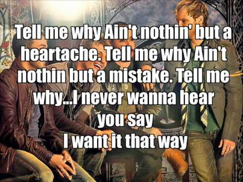 Tell me why - Backstreetboys - KARAOKE / LYRICS