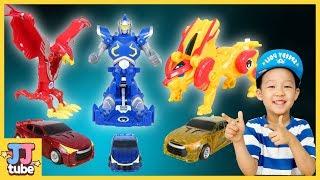 터닝메카드 윙시리즈 총출동 윙피닉스 윙레오 윙나이트 변신로봇 장난감 놀이 TurningMecard Transforming Cars Toy Play[제이제이 튜브-JJ tube]