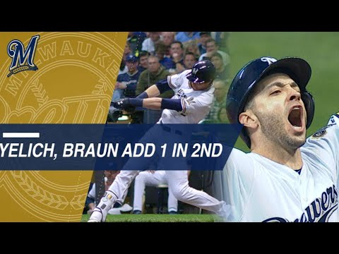 Video: NLCS Gm6: Yelich, Braun doubles extend Crew's lead in the 2nd