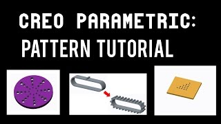 How to use Pattern in Creo Parametric- Radial Pattern- Curve Pattern- Fill Pattern