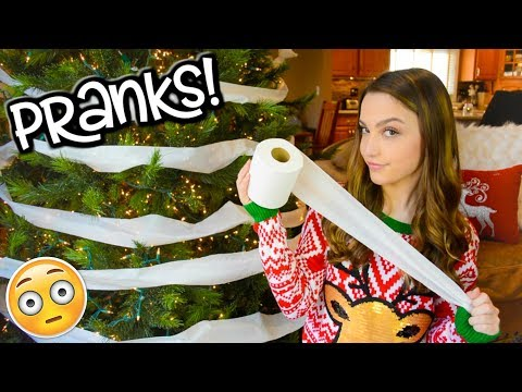 Christmas Pranks for the Holidays! SIBLING PRANK WARS!! (видео)