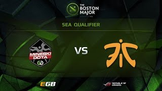 Mineski vs Fnatic, Boston Major SEA Qualifiers