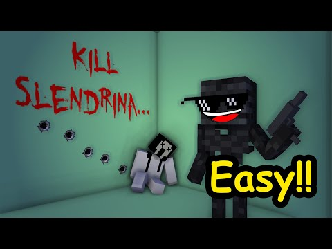 Monster School: Kill Slendrina Challenge - Minecraft animation