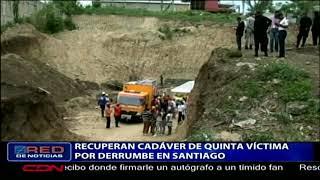 Recuperan cadáver de quinta víctima por derrumbe en Santiago
