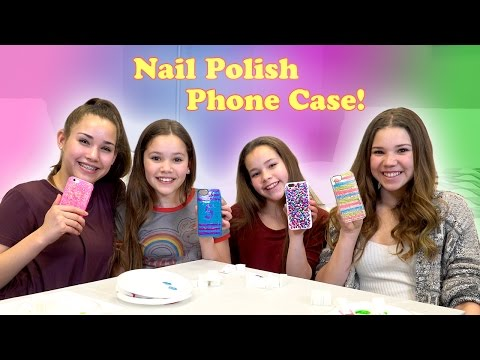 DIY Nail Polish Phone Case! (Haschak Sisters)