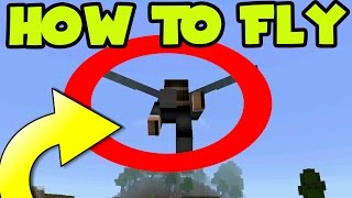 """HOW TO FLY! MCPE 0.17.0 UPDATE """"ELYTRA WINGS"""" GAMEPLAY //  MCPE 1.0 - Minecraft PE (Pocket Edition)"""