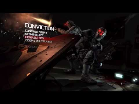 Tom Clancy's Splinter Cell Conviction Deluxe Edition - Main Menu Overview (PC) - HD (видео)