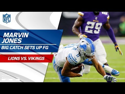 Video: Marvin Jones Lays Out for Great Grab & Sets Up Detroit FG! | Lions vs. Vikings | NFL Wk 4