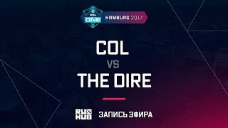 coL vs The Dire, ESL One Hamburg 2017, game 1 [Lum1Sit, Inmate]