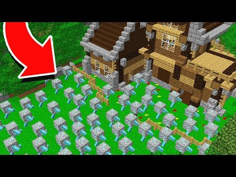 1,000 Diamond Ores Vs. Safest Minecraft House!