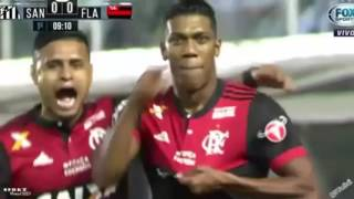 Flamengo 2 x 4 Santos  Copa do Brasil 2017 - Flamengo Classificado!!!
