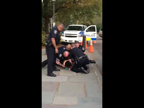 Arrest on Duke campus captured on video
