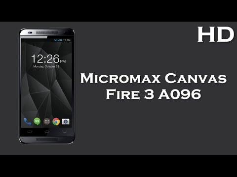 Micromax Canvas Fire 3 A096 listed online with 1.3GHz Quad Core Processor, 1GB RAM, Android 4.4