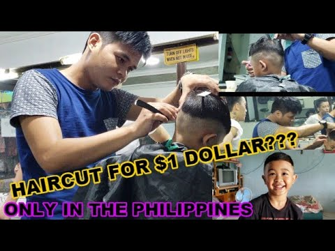 1 DOLLAR HAIRCUT?? ONLY IN THE PHILIPPINES