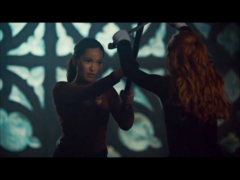 Clary and Aline fight scene | Shadowhunters 3x15
