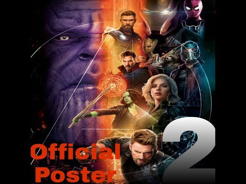 Marvel :OFFICIAL INFINITY WAR MOTION POSTER - 2