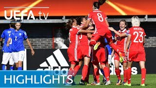 Watch the best of the action from this Group B match at UEFA Women's EURO 2017.Subscribe: http://www.youtube.com/subscription_center?add_user=uefaFacebook: https://www.facebook.com/uefacomTwitter: https://twitter.com/UEFAcomG+: https://plus.google.com/+UEFAcomhttp://uefa.com