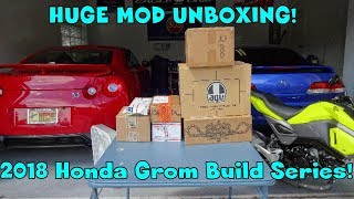 8. 2018 Honda Grom Mod Unboxing! Grom Build Series Part 1