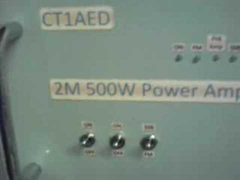 CT1AED: 500w 144 Mhz  RF Power Amplifier