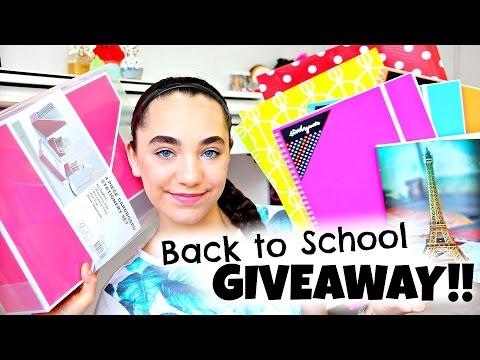 Back to School GIVEAWAY!! INTERNATIONAL!! 2015 (видео)