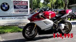 4. Used 2007 Ducati 1098S Tricolore with Full Termignoni Exhaust at Euro Cycles of Tampa Bay