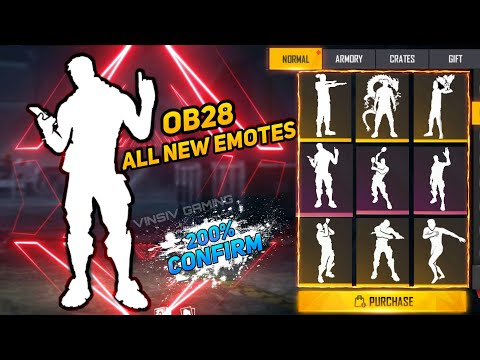 FREE FIRE OB28 UPDATE NEW EMOTES   FREE FIRE NEW EVENT   NEW EVENT FREE FIRE   FREE FIRE NEW EMOTES
